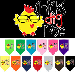Chicks Dig Me Screen Print Pet Bandana